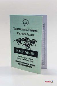 Race Night Booklet
