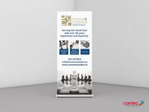 Connors & Co Roll up Banner