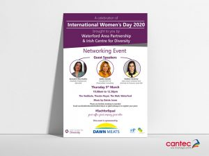 Irish Centre of Diversity   International Women's Day Poster